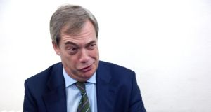 Nigel Farage's appearance is something of let-down, at least for anyone expecting him to live down to his caricature as a blinkered, prejudiced little Englander. Photograph: Bryan Meade