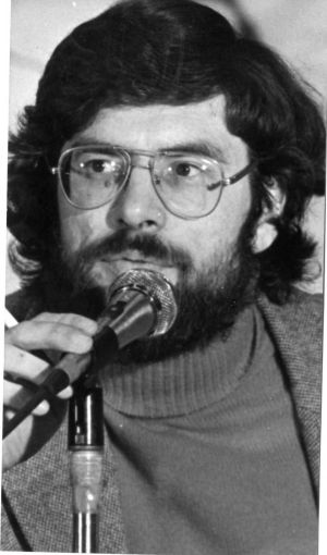 77th Sinn Fein ard-fheis in the Mansion House, Dublin.  Gerry Adams Vice-President Sinn Fein, 1981.  Photograph: Peter Thursfield / The Irish Times
