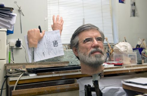 Wax work model  of Sinn Fein leader Gerry Adams TD photographed in the sculptors studio, 2016. Photograph: Brenda Fitzsimons / The Irish Times