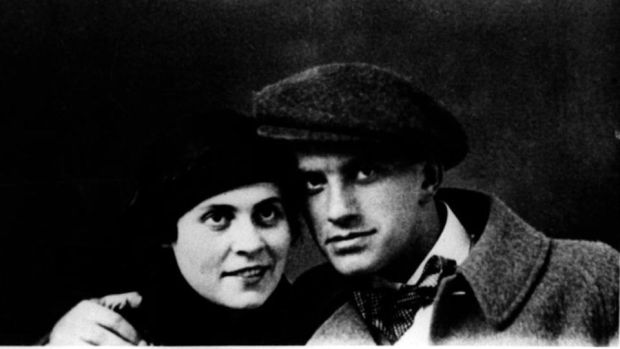 Vladimir Mayakovsky and his on-off lover Lily Brik