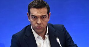 Greek Prime Minister Alexis Tsipras: the first Greek prime minster to meet and beat targets laid down the bailout masters. Photograph:  sakis MitrolidIs/AFP/Getty Images)