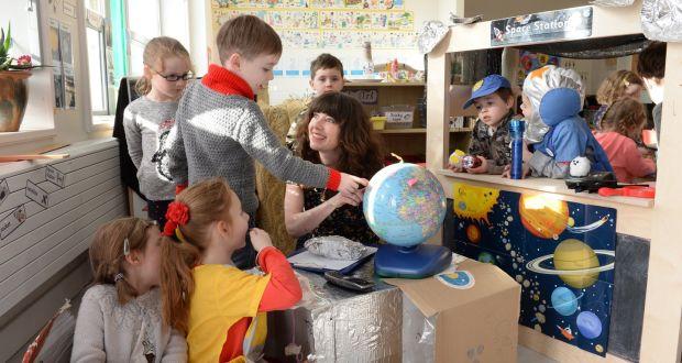 Children Learning With Teacher