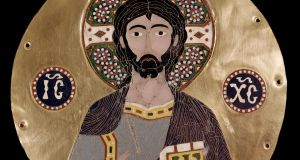 Christ Pantocrator (Christ in Glory) depicted in this 10th-century Byzantine  enamel plaque in the Museo Lazaro Galdiano, Madrid, Spain. Photograph:  Leemage/Corbis via Getty Images