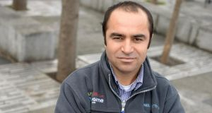 Homayoon Shirzad, from Afghanistan, works with Eurosales in Ringsend, Dublin. Photograph: Dara Mac Dónaill