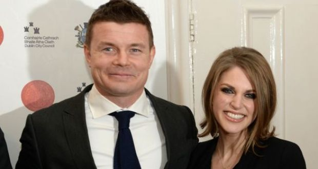 Planning permission for Brian O'Driscoll and Amy Huberman's home comes  a year after the couple lodged plans with Dublin City Council. File photograph: Dara Mac Dónaill