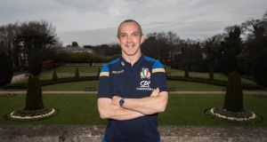 Italy coach Conor O'Shea at the team base at Radisson St Helen, Dublin, yesterday. Photograph: Tommy Dickson/Inpho