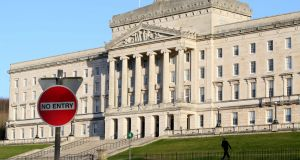 "Senior DUP and Sinn Féin sources said intensive talks were continuing at Stormont but that ""significant gaps"" remained between the two parties. Photograph: Paul Faith/AFP/Getty Images"