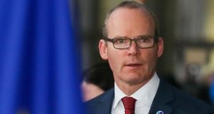 "Tánaiste and Minister for Foreign Affairs Simon Coveney: said the Government wanted to ensure there was ""no pullback"" from commitments on the Border. Photograph: Virginia Mayo/EPA"