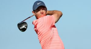 Rory McIlroy opened with a 68 at Pebble Beach. Photograph: Mike Ehrmann/Getty