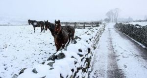 Met Éireann has issued a snow and ice warning for Ireland. File photograph: Brian Lawless/PA Wire