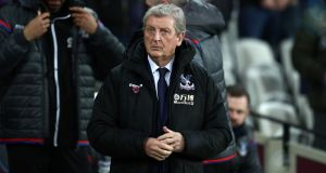 Roy Hodgson takes his Crystal Palace side to Goodison Park on Saturday. Photograph: Catherine Ivill/Getty