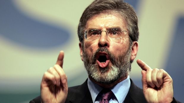 As president of Sinn Fein for 34 years, Gerry Adams has directed operations in a slow but deliberate manner from the front, outflanking and neutralising his militant opponents. Photograph: Dara Mac Dónaill