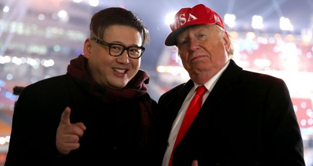 1d8a58ecf57 Donald Trump and Kim Jong-un lookalikes during the opening ceremony of the PyeongChang  2018