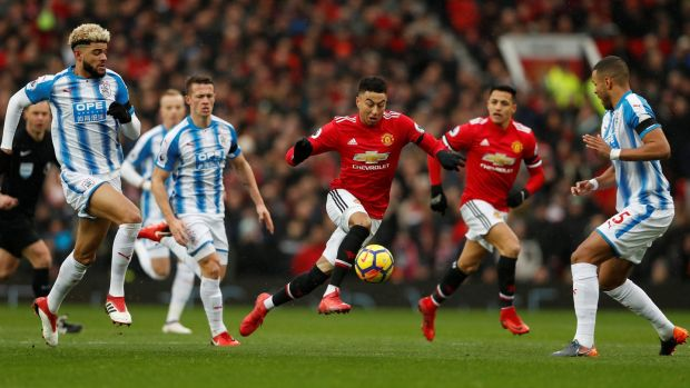 Jesse Lingard against Huddersfield Town at Old Trafford on February 3rd. Photograph: Reuters/Lee Smith