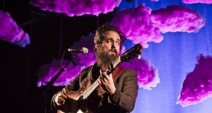 American singer Sam Beam aka Iron & Wine performs during a concert at the Huxleys in Berlin, Germany, 2018. Photograph: Frank Hoensch
