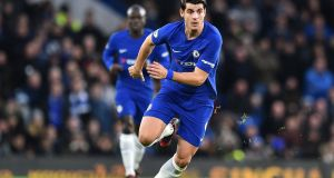 Alvaro Morata: Chelsea's record signing has already missed three weeks due to  a back injury. Photograph: Glyn Kirk/AFP