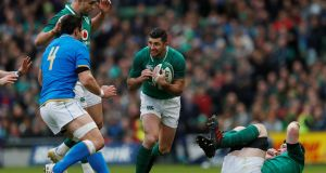 <b>15. Rob Kearney </b>One knock-on aside he did pretty much everything that was required and will have been disappointed to be denied a certain try after referee Romain Poite got in the way. Rating: 7  Photograph: Reuters