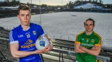 Dara McVeety of Cavan and Cillian O'Sullivan of Meath during a media event at Kingspan Breffni Park earlier this week. Photograph: Sportsfile