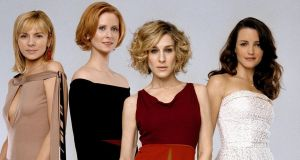 Sex and the City stars: Kim Cattrall, Cynthia Nixon, Sarah Jessica Parker and Kristin Davis. Photograph: Mark Liddell/Reuters/HBO