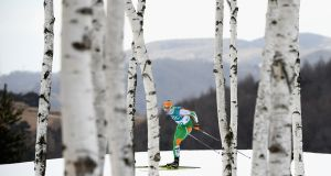Irish cross-skier Thomas Westgaard during the 30km event. Photograph: Quinn Rooney/Getty