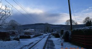 Snow in Cordangan, Co Tipperary on Sunday. Photograph: Philip O'Dwyer