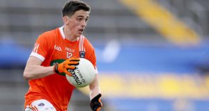 Rory Grugan's late point gave Armagh victory over Longford. Photograph: Tommy Dickson/Inpho