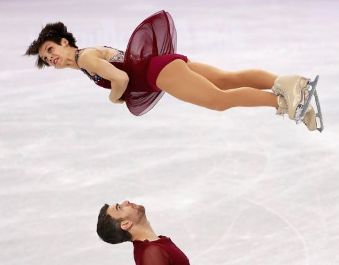 FREE SKATING: Meagan Duhamel and Eric Radford of Canada perform during the Pair Free Skating of the Figure Skating Team Event competition at the Gangneung Ice Arena during the PyeongChang 2018 Olympic Games, South Korea.  EPA/How Hwee Young/EPA