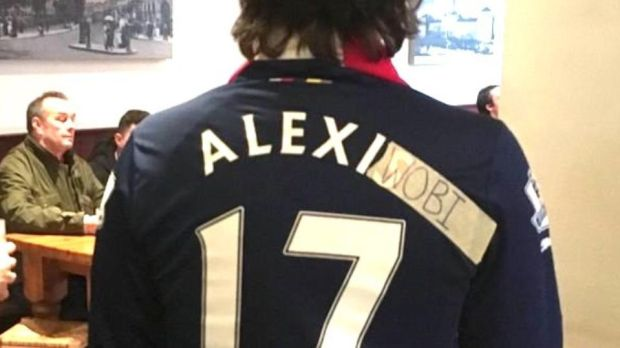 An Arsenal fan gets creative after Alexis Sanchez's move to Manchester United.