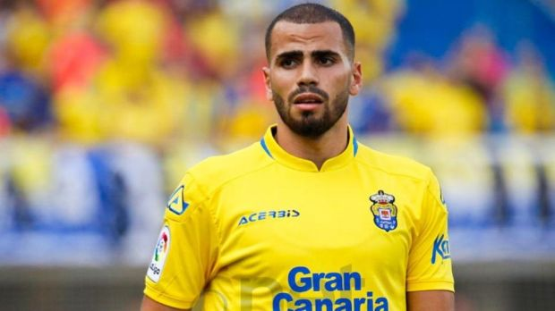 Oussama Tannane in action for Las Palmas.