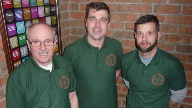 Newly elected committee members following the first AGM of Usher's Lake Coarse Angling Club. From left, Tom Dempsey (treas); Duncan Smith (chair) and Darragh O'Farrell (sec).