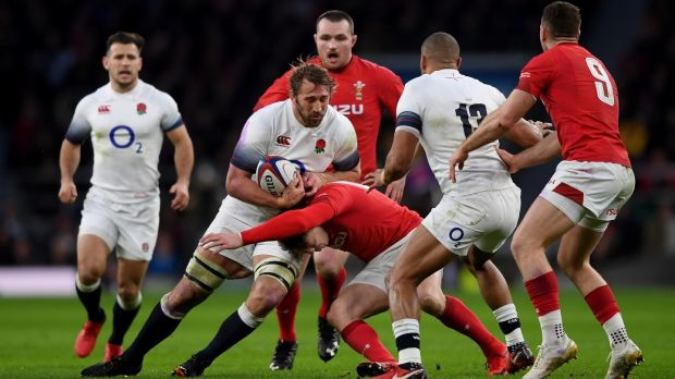 Chris Robshaw in action against Wales. Photograph: Shaun Botterill/Getty