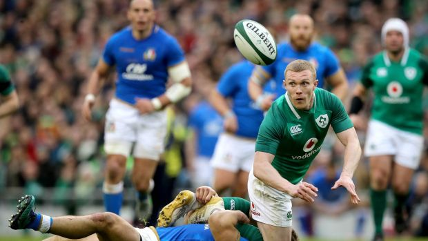 Keith Earls in action against Italy. Ryan Byrne/Inpho
