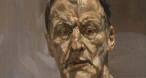 Lucian Freud (1922-2011): Reflection (Self Portrait), 1985, oil on canvas. Private collection. Photograph:  The Lucian Freud Archive/Bridgeman Image