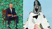 Obamas' portraits unveiled: Barack thanks artist for capturing Michelle's 'hotness'