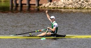 Ireland's Paul O'Donovan competed in the Premier (heavyweight) single in New Zealand. Photograph: Inpho