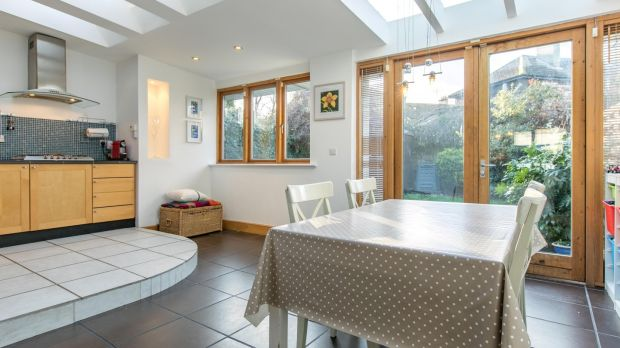 The open-plan kitchen/dining area at 47 Oliver Plunkett Road, Monkstown