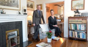 Rory Crerar and his wife, Margaret, in their new home in Rathfarnham in Dublin. Photograph: Dara Mac Dónaill