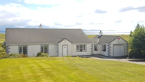 Golf Road, Mulranny, Co Mayo: built in 1994, this three-bed detached house is set on more than an acre of land.