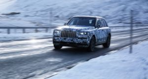 The Rolls Royce SUV: coming to a country estate near you this summer.