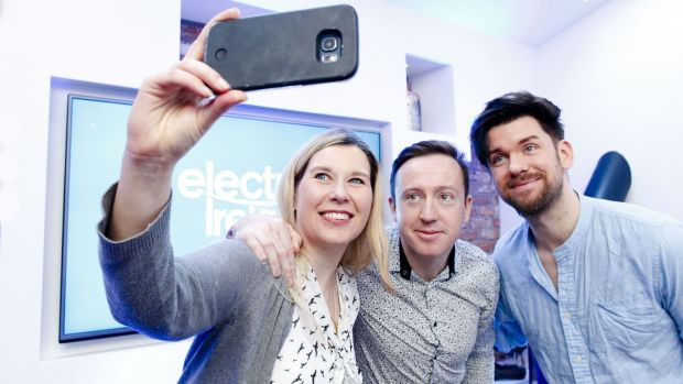 Dr Cara Augustenborg, Colin Baker and Eoghan McDermott at the launch of the Electric Ireland Smarter Home on Tuesday 13th February.