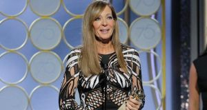 Allison Janney accepts the award for best supporting actress for I, Tonya at the  Golden Globes last month. Photograph: Paul Drinkwater/NBCUniversal via Getty Images