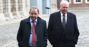 Garda whistleblower Maurice McCabe and his lawyer Michael McDowell at the Disclosures Tribunal in Dublin Castle. Mr McDowell said that the error, however unintentional, should never have occurred. Photograph: Stephen Collins/Collins
