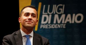 "Five Star Movement leader Luigi Di Maio said he would ""find the bad apples and throw them out"". Photograph: Ciro De Luca/Reuters"