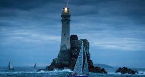 Fastnet Rock:  a famous mark in yacht racing. Photograph: David Branigan/Oceansport/courtesy Baltimore RNLI