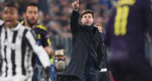 Tottenham manager Mauricio Pochettino during his team's draw at Allianz Stadium. Photograph: Michael Regan/Getty Images