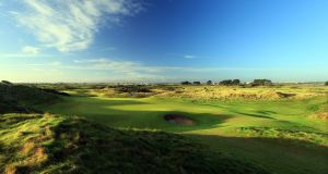 A view of the  12th hole at Portmarnock Golf Club in Dublin. Photograph:  David Cannon/Getty Images