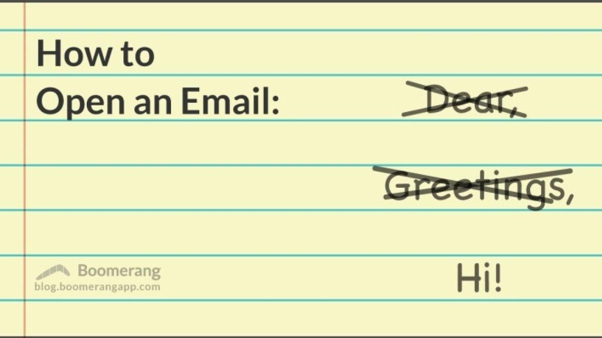 Dear Oh Dear How Not To Start An Email