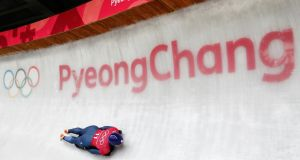 Lizzy Yarnold of Britain in action in Pyeongchang. Photograph: Arnd Wiegmann/Reuters