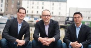 Boxever co-founders (left to right) Dermot O'Connor, Dave O'Flanagan and Alan Giles