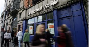 Permanent TSB had the highest level of non-performing loans in the Republic last June, at 28 per cent.  Photograph: Bryan O'Brien